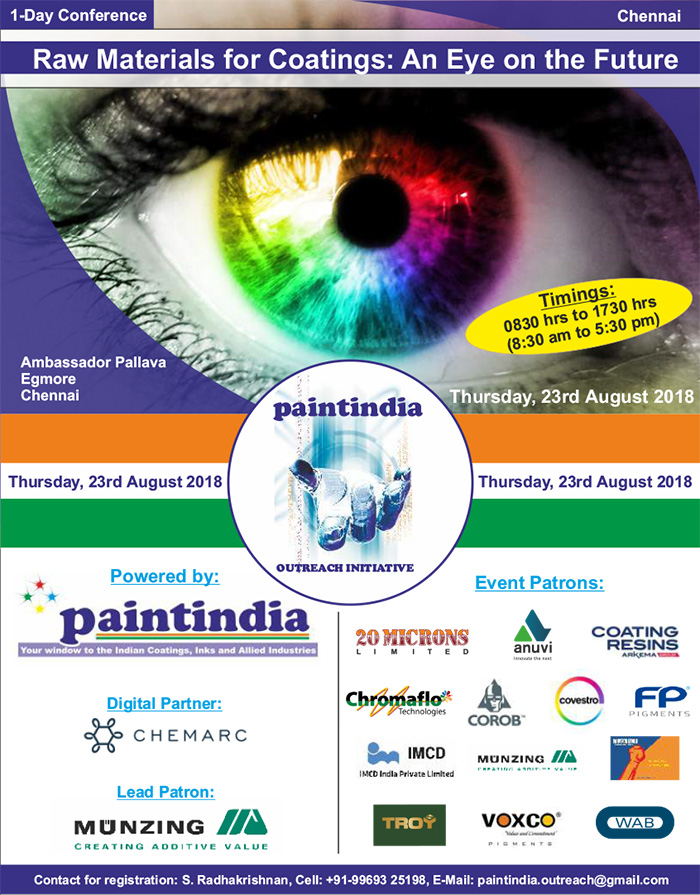 Paintindia Outreach Conference - Chennai 23 August 2018