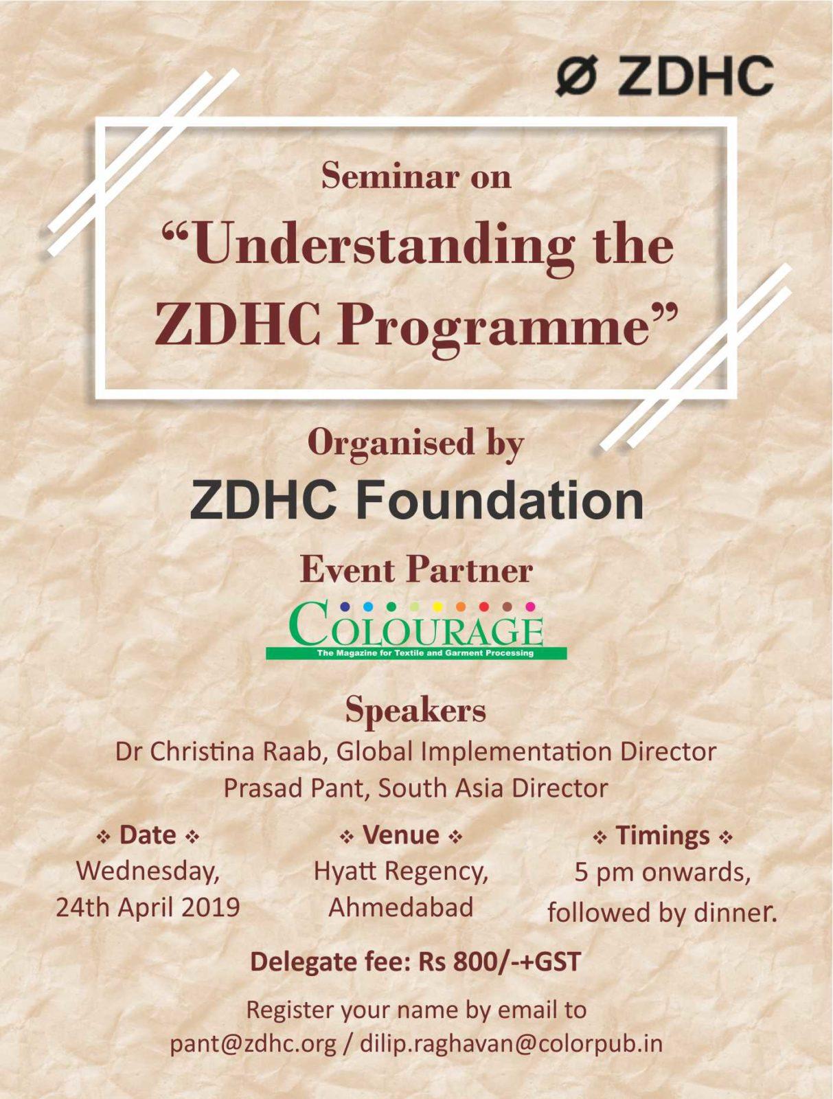 ZDHC Seminar - 24 April 2019, Ahmedabad