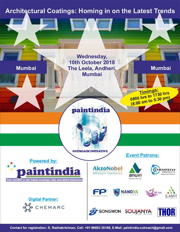 Paintindia Outreach Conference - 10 Oct 2018 Mumbai
